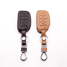 100% leather car key case for Hyundai IX35 IX25 I10 I20 Sotaque Elantra IX35 IX45 leather car remote key case protect shell(China)