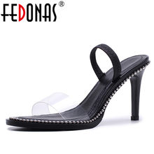 FEDONAS 2018 New Wind Summer Women Sandals High Heel Peep Toe Sexy Sandals Shoes  Woman Buckle Strap Female Fashion Dress Pumps 19b392d15e99