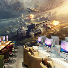 Free Shipping Internet cafes 3D stereo military camouflage large mural bar KTV restaurant sofa TV background wallpaper mural