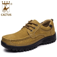 Buy CALTUS 100% Genuine Leather Men Casual Shoes 2017 High Lace Men Platform Flats Breathable Driving Shoes AA20523 for $47.53 in AliExpress store