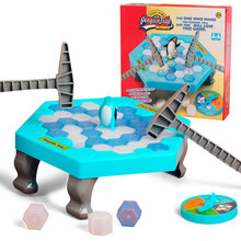Crashed Ice Game Puzzle Table Games Penguin Ice Cubes Pounding Save Knock Ice Block Wall Toys Desktop Paternity Interactive Game(China)