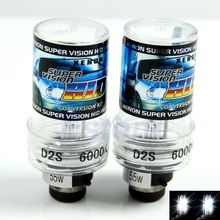 2Pcs D2S 6000K 55W HID Xenon Replacement Headlight Bulb Car Light Lamps