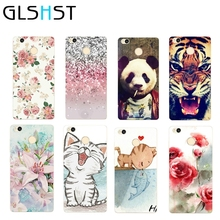 GLSHSTrose flower peony Cat kiss fish Cover phone Case for Xiaomi redmi 4X soft TPU dust proof mobile phone shell