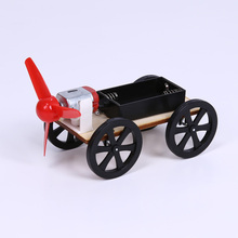 ABS Plastic Assemble Wind-up Toy Car Kids Wooden Technology Educational DIY Wind Powered Intellectual Auto Toys(China)