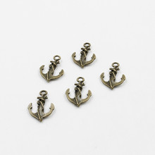 27*19mm 24PCS Anchor Ancient Bronze Jewelry Connector Embellishments DIY jewelery manufacturing Accessories Wholesale M5351