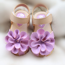 Hot Sale!2017 Promotion Children Shoes Girls Sandals Flower Cow Muscle Child's Summer Footwear Baby Girl Princess Kids Shoes