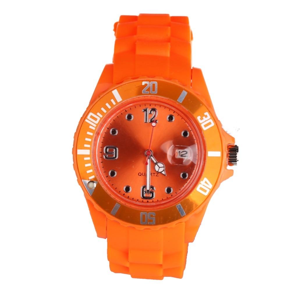 New Fashion Unisex Women Wristwatch Quartz Watch Sports Casual Silicone Reloj Gifts Relogio Feminino Clock Digital Watch Orange<br><br>Aliexpress