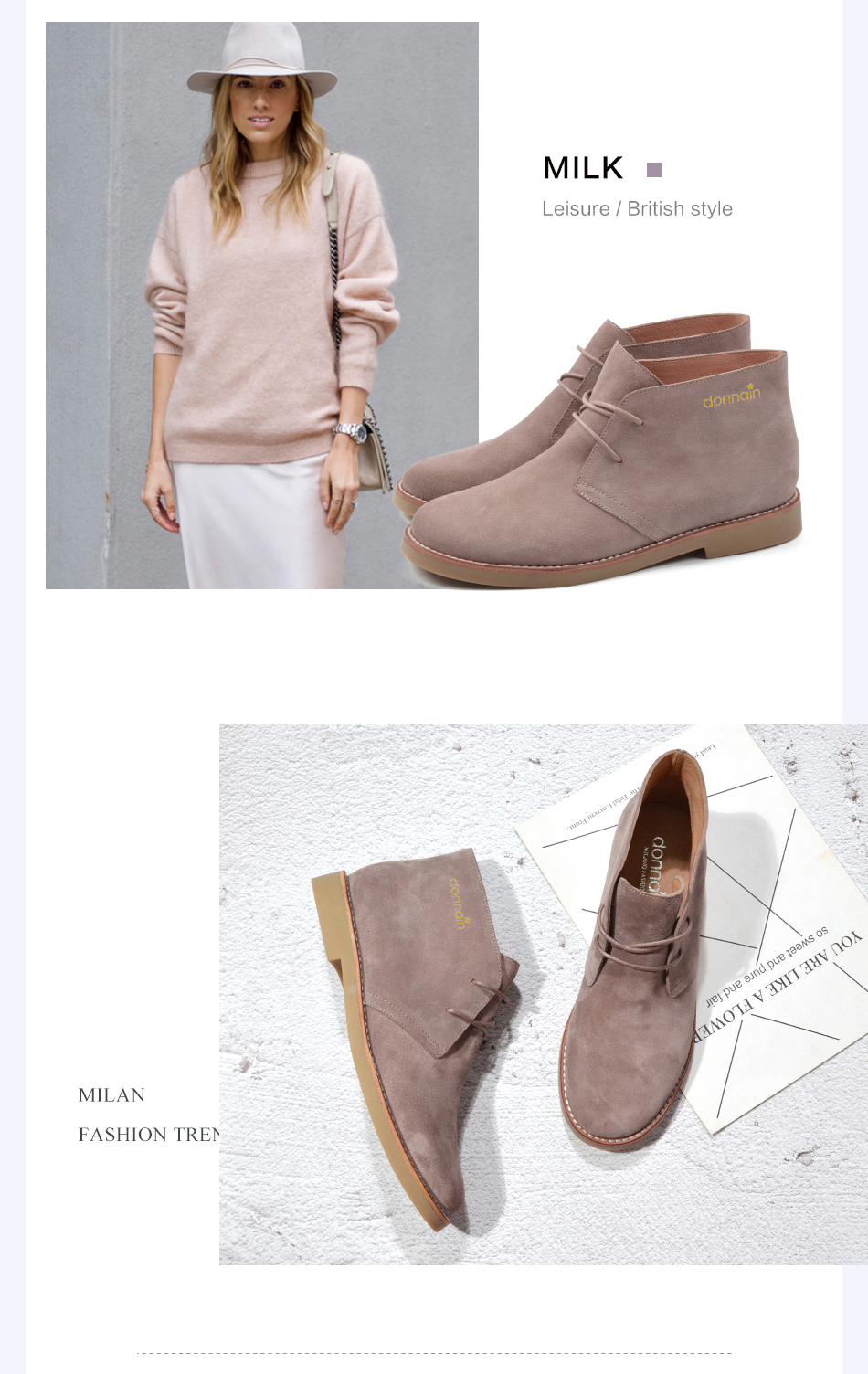 Donna-in Fashion Martin Boots Women Adult Autumn Spring 2019 Ankle Boots Suede Leather Lace-up Casual Low Heel Shoes Women (29)