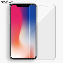 2PCS Wolfsay Screen Protector For iPhone X Clear Soft TPU Film (Not Tempered Glass) for Apple iPhone X 5.8 inch Full Cover Film(China)
