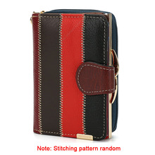 Buy Fashion Patchwork Genuine Leather Women Short Wallets Coin Pocket Credit Card Wallet Female Purses Money Clip multicolour for $13.27 in AliExpress store