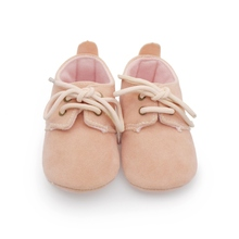 Toddler Baby Shoes Lace Up Flock Princess Shoes Infant Boys Girls Pre walkers 0-18M