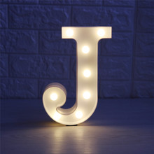3D 26 Letter Night Light LED DIY Combination Cute Marquee Sign For Bar Coffe Decor Children Bedroom Night Light Room Lamp