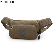 Popular Men's Waist Packs Casual Fanny Pack Unisex Waist Bag Fashion Multifunction Bag Mini Belt Bag Men Travel Purse HB120(China)