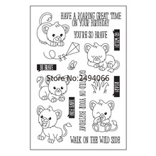 YOU'RE SO BRAVE HAVE FUN BE BRAVE Scrapbook DIY photo cards rubber stamp clear stamp transparent stamp 10x15cm AP792503(China)