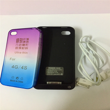 Battery Charger Case For iPhone 4 4S 4G 4000mAh Portable Backup Battery Charger Cover Power Back Case With Slim Phone Case(China)