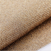 24*40CM Lt Topaz Color Crystal Rhinestone Trim Mesh Hotfix Iron On Strass DIY Rhienstone Mesh Garment Hand Craft Decoration(China)