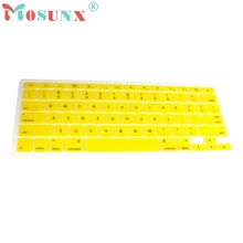 "Beautiful Gift 100% Brand New Yellow Silicone Keyboard Cover Skin for Macbook Pro 13""15"" Wholesale price Dec19"
