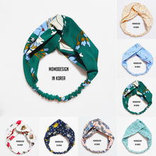 2017 new Fresh Fashion Colorful Turban Headbands Women Chiffon Headband Head Wrap Wide Lattice Hairband Hair Accessories