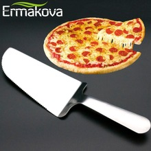 ERMAKOVA Stainless Steel Serrated Edge Cake Server Blade Cutter Pie Pizza Server Cake Cutter Cake Holder Pizza Tool