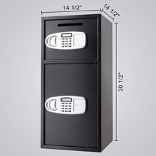 VEVOR Security Safe Box Double Door Digital Safe Depository for Money Gun Jewelry(China)