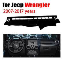 Car dashboard covers mat for Jeep wrangler 2007-2017 years Left hand drive dashmat pad dash cover auto dashboard accessories
