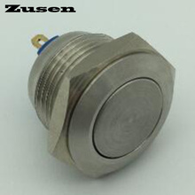 Zusen 16mm GQ16F-10/J/S Momentary Stainless Steel Metal Momentary Push Button Switch IP67