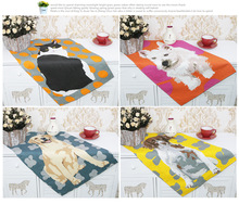 Simple collision color 100% cotton Dog/Cat painting tea towel kitchen towel ultra durable Food photography background