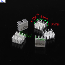 (100 pieces/lot) Aluminum MOS Mini Small IC Chipset Cooling Cooler Heat Sink Heatsinks 6.35mm * 6.3mm * 3.5mm wholesale