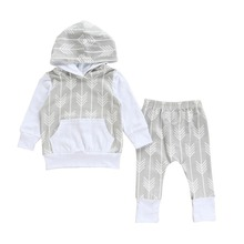 Spring Autumn Brand Unisex Kids Baby Carters Boys Girls Clothing Set 3 PCS Set Full Cotton Striped T-shirts + Pants + Caps