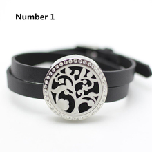316L stainless steel essential oil diffuser bracelet 30mm twist top perfume bracelet aromatherapy bracelet with crystals
