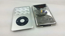 brand new silver front faceplate fascia housing case cover button key black click wheel for ipod 7th classic thin 160gb