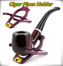 New Fashion Portable Durable Foldable Stand Meerschaum Smoking Pipe Tobacco Plastic Cigar Pipes Rack Holder&wholesale