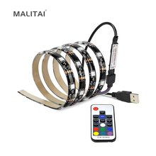 DC5V RGB 5050 USB Power LED String For LCD Monitor TV Background light 1M 2M 3M 4M 5M Decoration lamp Strips Waterproof IP65(China)