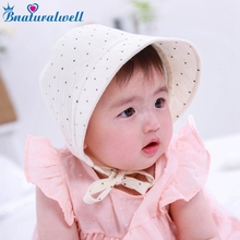 Bnaturalwell Baby girls bonnet Sunbonnet Toddler Cotton Sunhat Infant Bonnet Photo Prop Newborn Hat shower gift Photo Prop H837(China)