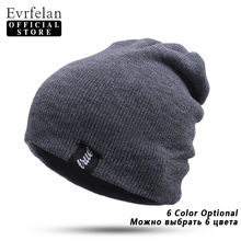 Evrfelan Brand Winter Hat For Men Skullies Beanies Women Fashion Warm Cap Unisex Elasticity Knit Beanie Hats Drop Shipping