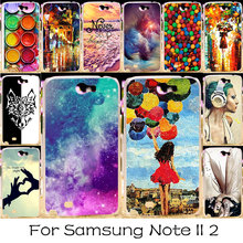 TAOYUNXI Plastic DIY Painted Phone Cover Case For Samsung Galaxy Note 2 Note II N7100 Bag N7105 Note2 NoteII 7100 Case Covers(China)