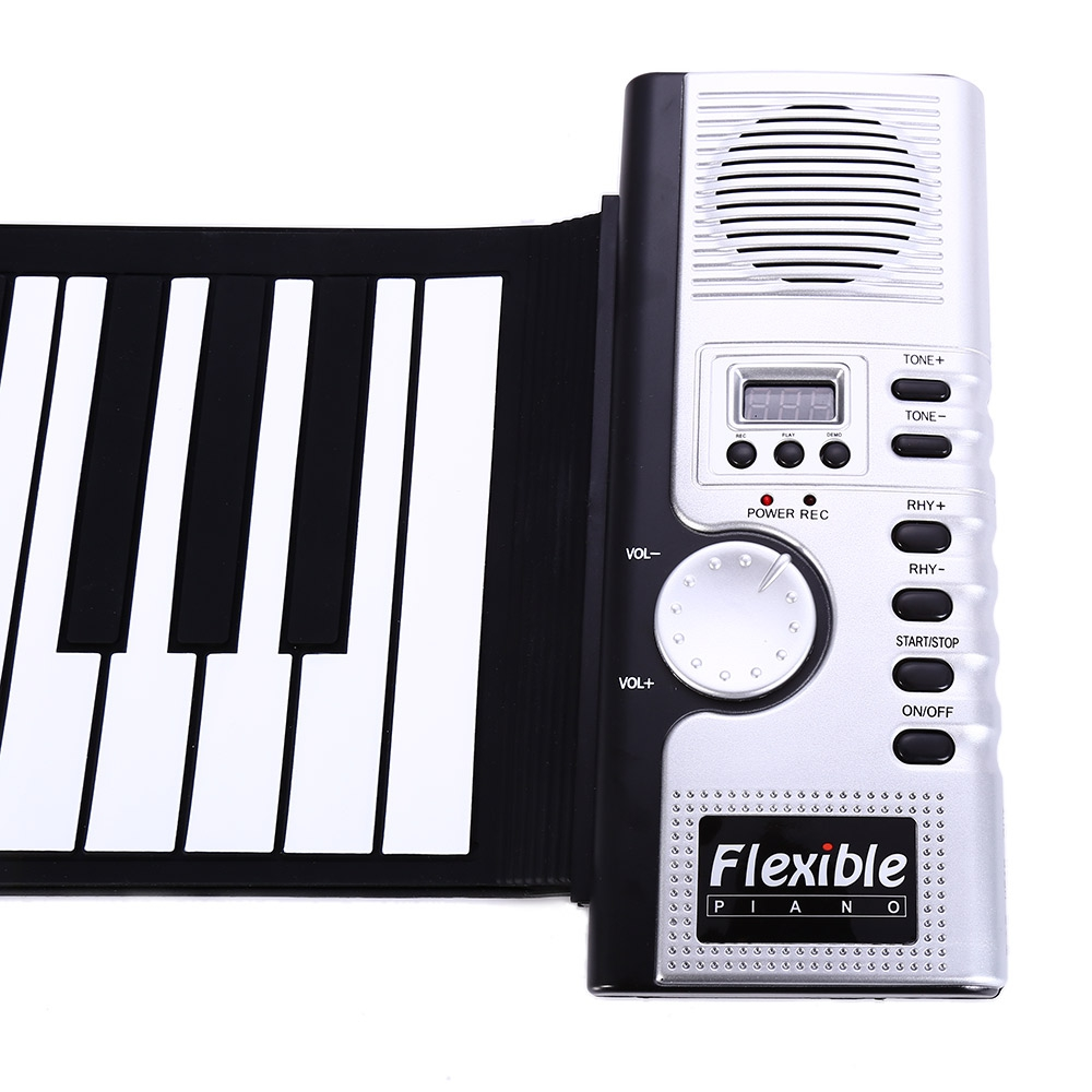 Portable 61 Keys Roll-up Keyboard Flexible 61 Keys Silicone MIDI Digital Soft Keyboard Piano Flexible Electronic Roll Up Piano (7)