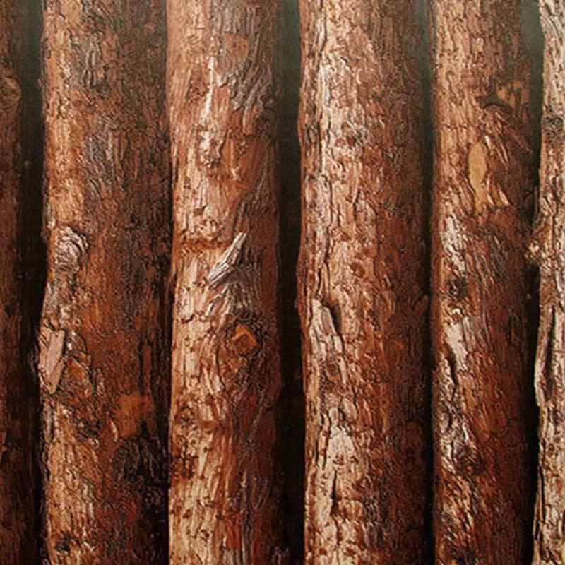 Vintage 3D Simulation Bark Textured Vinyl Wallpaper Wood Tree Pattern Wallpaper Roll For Living Room Bedroom Walls Home Decor<br>