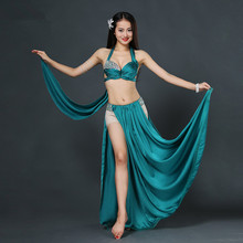 Bellydance oriental Belly Indian gypsy dance dancing costume costumes clothes bra belt chain scarf ring skirt dress set suit 113