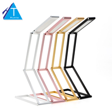 LED Desk Lamp Transformers 2-Level Dimmable Portable Table Lamp USB Rechargable Aluminum Alloy Foldable Night Light(China)