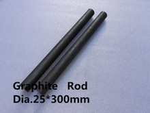 Dia.25*300mm graphite cylinder carbon rod / Molded Graphite Rod /FREE SHIPPING 1pc(China)