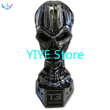 China figure YIYE Store 1: 1 resin female Terminator T3 skull bust Built-in LED lights Resin material FB0161
