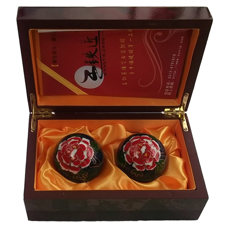 Wang Tiejiang Baoding Cloisonne peony 50mm qingmingshanghetu ball<br><br>Aliexpress