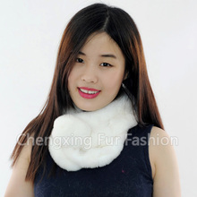 CX-S-15C Cheap Style And High Quality Lady Scarf Real Rex Rabbit Scarf