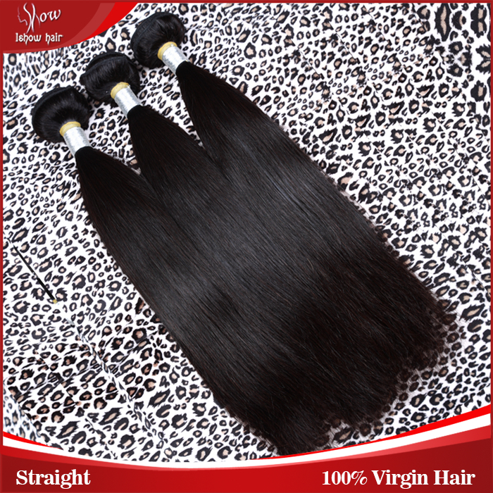 Grade 7A brazilian virgin hair unprocessed virgin hair brazillian virgin hair straight ishow product 3pcs lot nature black color<br><br>Aliexpress