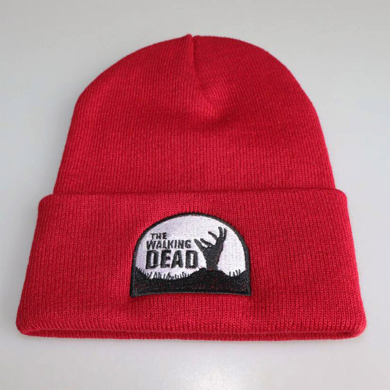 Anime The Walking Dead Knitted hat Cosplay hat Print Casual Cotton Cap woman bag