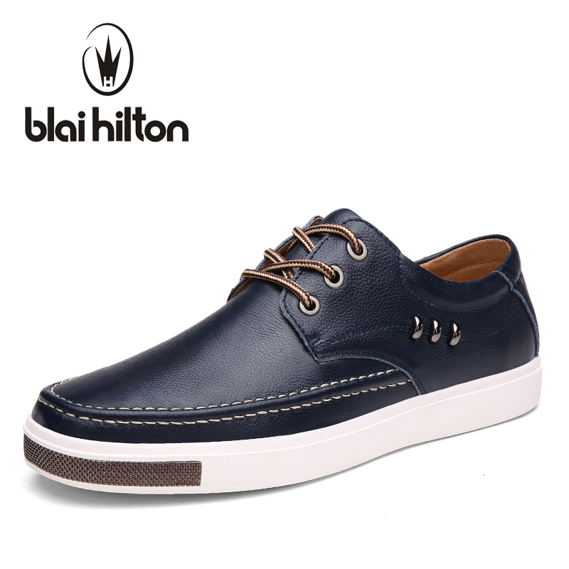 blaibilton Brand Genuine Leather Men Casual Shoes Flat Luxury Fashion Male Shoes Designer Breathable Footwear Designer SD9922<br>