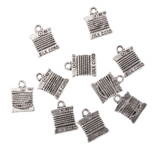 30Pcs Cord Reel Antique Tibetan Silver Bead Alloy Charms DIY Fashion Pendant Fit Women Girl Bracelet Necklace Jewelry 15*11mm