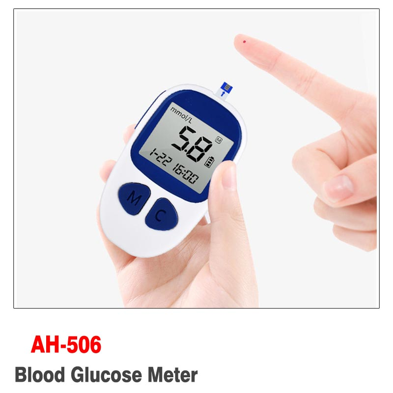 mmol/L and mg/dl Diabetic Blood Sugar Detection Blood Glucose Meter Glucometer Medidor de Glicemia +50 Strips &amp; 50 Needles<br>