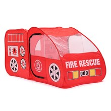 New Arrival Portable Fire Truck Play Tent Kids Pop Up Indoor Outdoor Playhouse Toy Gift Playing Tent For Child Kid(China)
